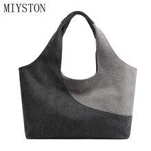 2019 New Women Big Size Handbag Tote Ladies Casual Canvas Shoulder Bag Patchwork Shopping Beach Bags Bolsa Feminina