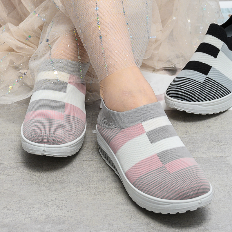 Sock Sneakers Loafers Vulcanized-Shoes Slip-On Summer Women Plus-Size New title=