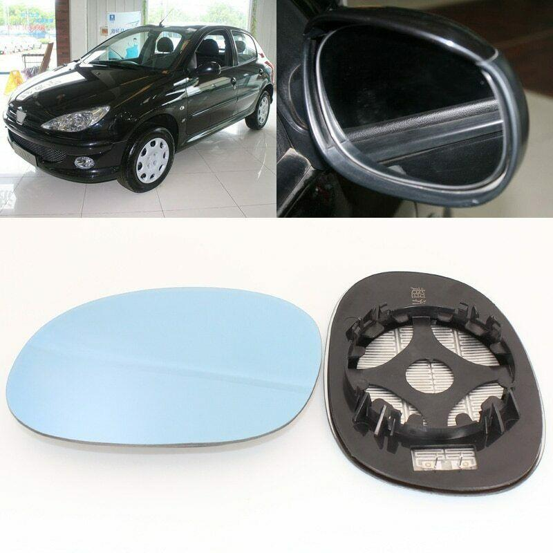 For <font><b>Peugeot</b></font> <font><b>206</b></font> 2005-2008 Side View Door <font><b>Mirror</b></font> Blue Glass With Base Heated image