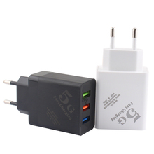 5V 2.4A USB Charge EU plug 3 ports USB Fast charger Mobile Phone Charger for iPhone iPad Samsung 100-240V Quick Charge Travel quick charge 3 0 usb charger travel for iphone samsung micro usb type c fast charging 3 ports eu us plug mobile phone charge
