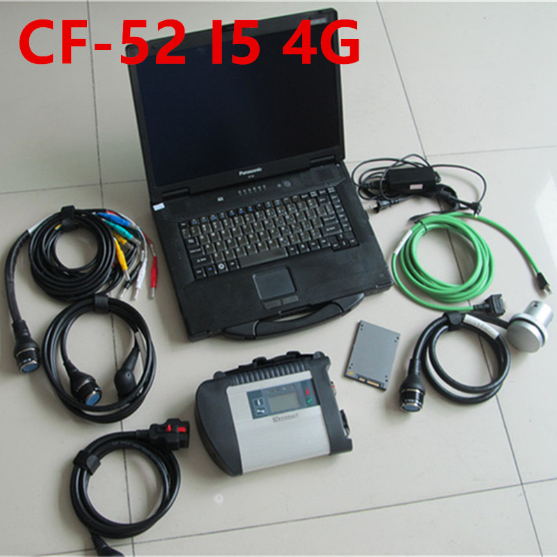 CF52 + MB star C4 SD Collegare + SSD DA 2019.12 con HHTwin Sistema di Diagnostica Compatto 4 Mercede di Diagnosi Multiplexer Per MB di Diagnostica - 3