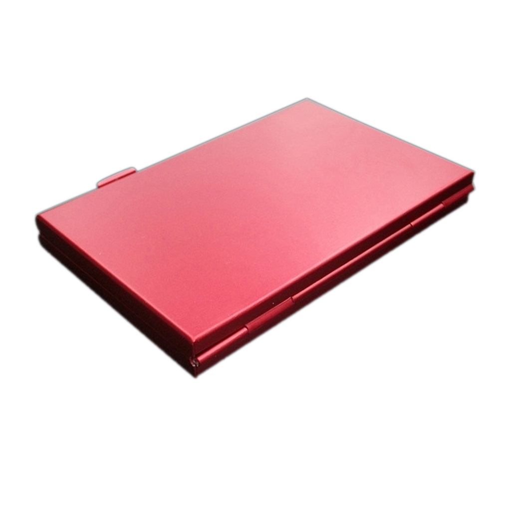 Memory Card Carrying Case Micro SD TF Card 24 Slots Storage Box Aluminum Alloy Shockproof Protector Case