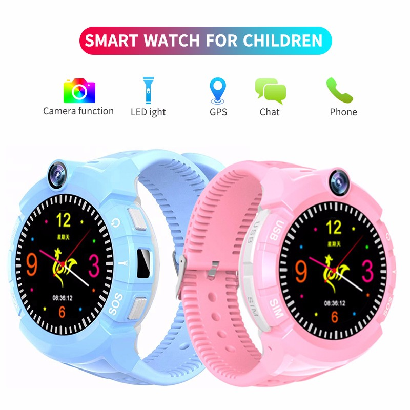 H4c200fe91d7249a6a168be111baeb8493 - New Smart watch Kid SmartWatches GPS Baby Watch for Children SOS Call Location Finder Locator Tracker Anti Lost Monitor