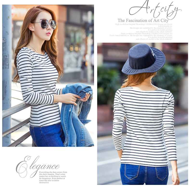 H4c201b6db29941b0ae42d970b7e136aaZ - Soperwillton Cotton T-shirt Women New Autumn Long Sleeve O-Neck Striped Female T-Shirt White Casual Basic Classic Tops #620