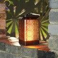 Ретро-светильник на солнечной батарее с пламенем  наружный водонепроницаемый светодиодный подвесной светильник  садовая декоративная Лан...