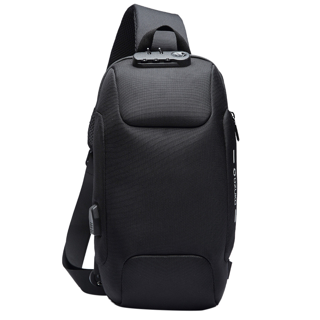 OZUKO 2019 New Multifunction Chest Bag For Men Anti-theft Shoulder Messenger Bags Male Waterproof Short Trip Chest Bag Pack