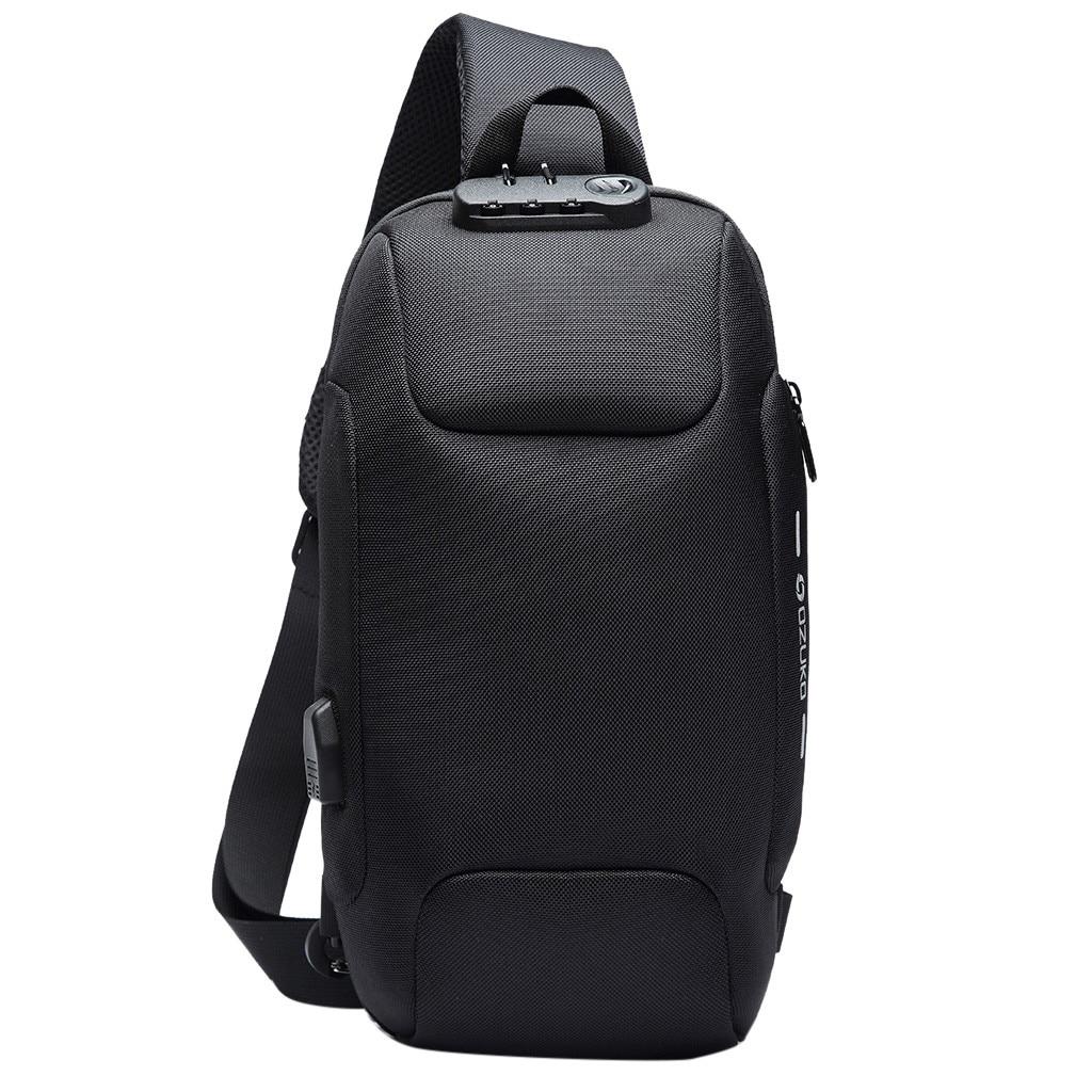 OZUKO 2019 New Multifunction Chest Bag For Men Anti-theft Shoulder Messenger Bags Male Waterproof Short Trip Chest Bag Pack