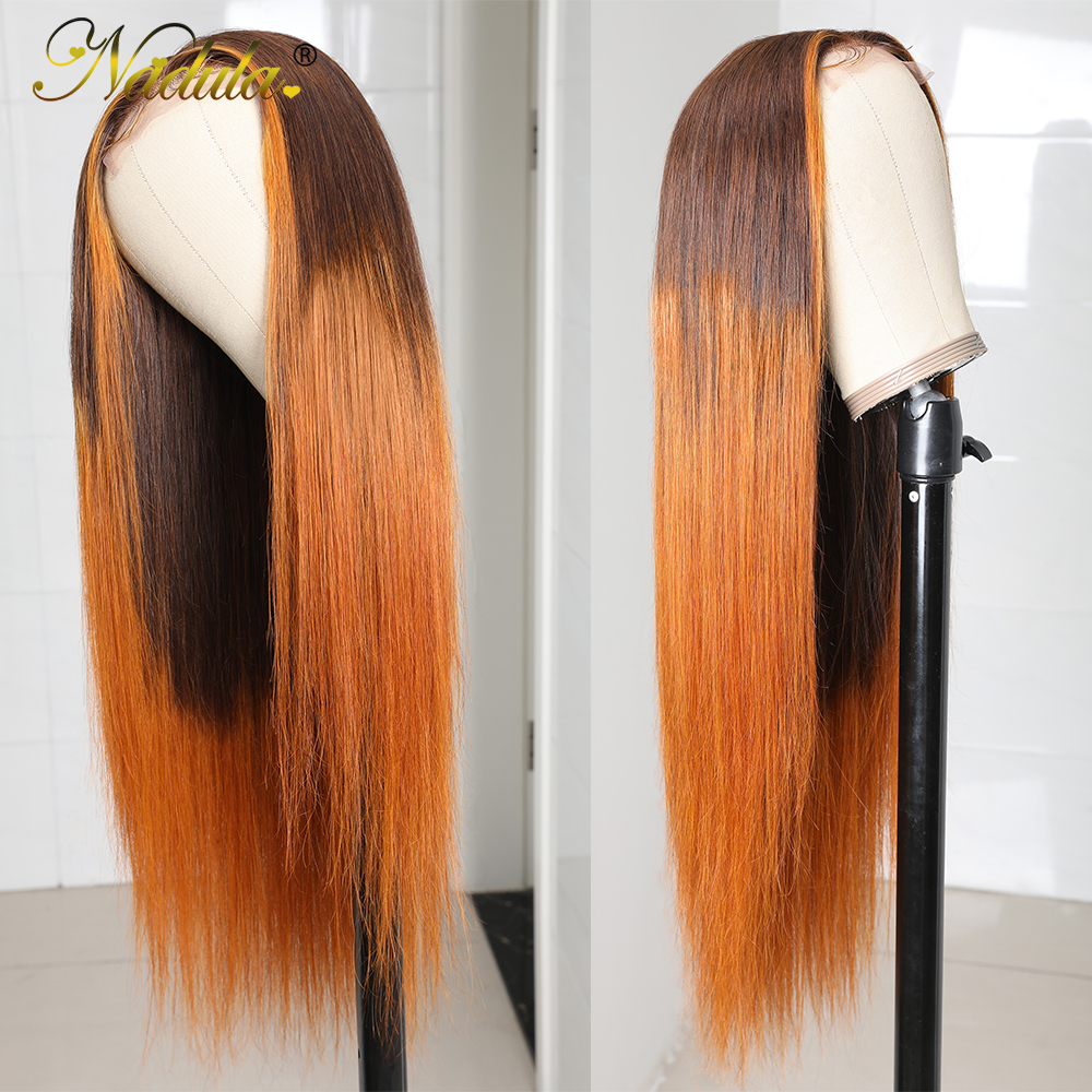 Nadula Hair Lace Front Wig Straight Hair T Part Lace Wig  4X1 T Part Wigs   Lace Wig 150% Prepluck 4