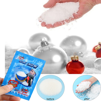 1pc Snow Powder Artificial Snowflakes Instant Fake Fluffy Snow Home Wedding Christmas Decorations Festival Party Supplies image