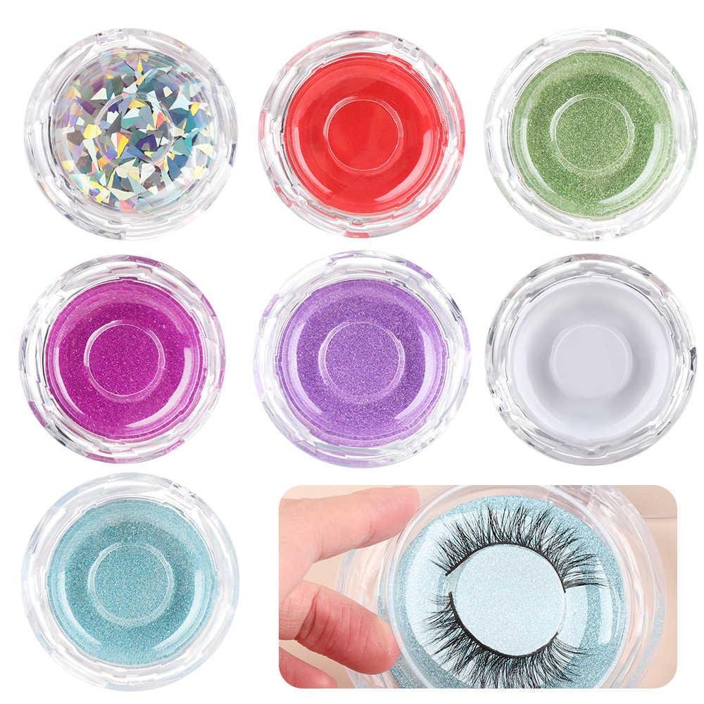 المهنية موضة البلاستيك جديد المرأة الرموش الصناعية صندوق تخزين مرآة رموش العين المغناطيسي وغير الجمال مخزن للمكياج