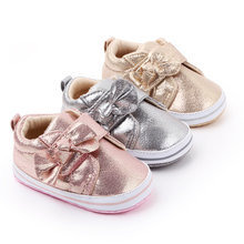 Bebê meninas sapatos bowknot prewalker sapatilha de algodão criança casual anti-deslizamento sola macia calçados da criança primeiro walker