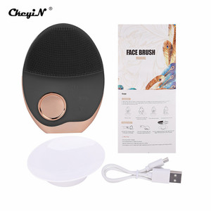 Image 3 - Mini Electric Ultrasonic Wireless charging Facial Cleansing Brush Silicone Rechargeable Face Waterproof Massager with Photon 40