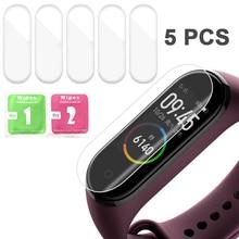 5 шт. мягкие Смарт-часы для Xiaomi Mi Band 4 смарт-браслет защита экрана ультратонкая мягкая HD защитная пленка против царапин