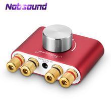 Nobsound מיני Bluetooth 5.0 דיגיטלי מגבר Hifi סטריאו בית אודיו TPA3116 כוח מגברי 50W + 50W רכב מגברי
