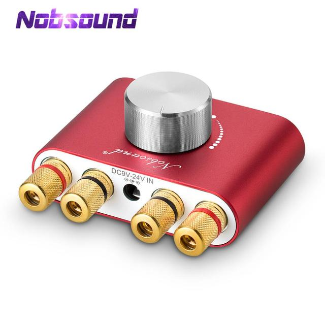 Nobsound Mini Bluetooth 5.0 Digital Amplifier Hifi Stereo Home Audio TPA3116 Power Amplifiers 50W+50W Car amplifiers