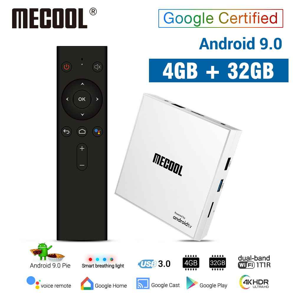 MECOOL KM9 PRO honneur Android 9.0 TV Box Amlogic S905X2 4G 32G 4K Google certifié Android 9 ATV Smart TV Box commande vocale