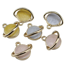 2018  korean space universe fashion alloy star series earrings for women planet pendant diy handmade jewelry accessories