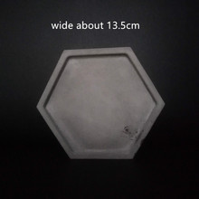 Hexagon Cement Flowerpot Vase Holder Tray Mold Handmade Gard