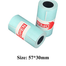3pcs/set Self-adhesive Sticker Papers 57x30mm Printing Roll Paper Stickers Photo Printer For Paperang P1 P2 Mini Pocket