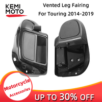 Motorcycle Accessories Vivid Black Lower Vented Leg Fairing For Touring Road King Street Glide 2014 2019 ABS plastic