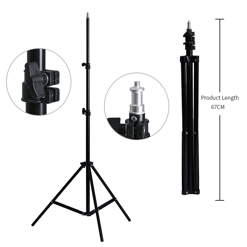Professional Adjustable 2M(79in) Light Stand Tripod With 1/4 Screw Head For Photo Studio Flashes Photographic Lighting Softbox