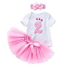 Платье для девочек, одежда для новорожденных девочек на 2-й день рождения, эксклюзивная одежда для маленьких девочек на 2 года, одежда для мал...