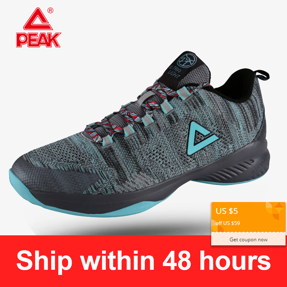US $55.3 30% OFF|PEAK Men's Basketball Shoes Ultra Light Male Basketball Damping Sports Shoes Wearable Basketball Sneakers Men Shoes EW7207A in
