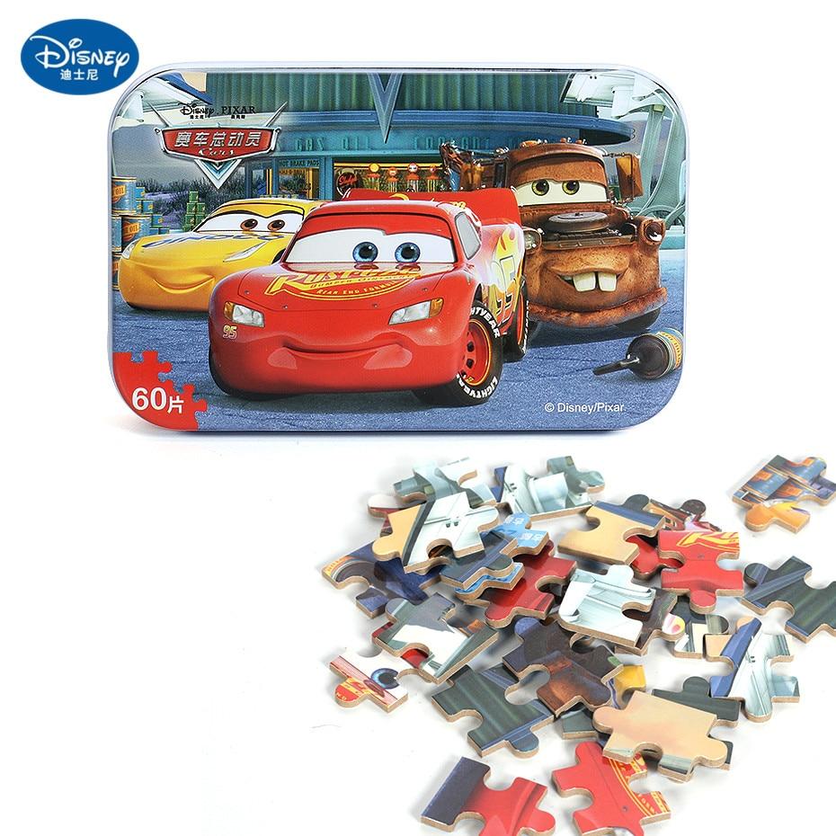 Disney 60 Piece Princess Frozen Wooden Box Puzzle Early Education Children Bottom Box Puzzle Birthday Toys Intelligence Puzzle 16
