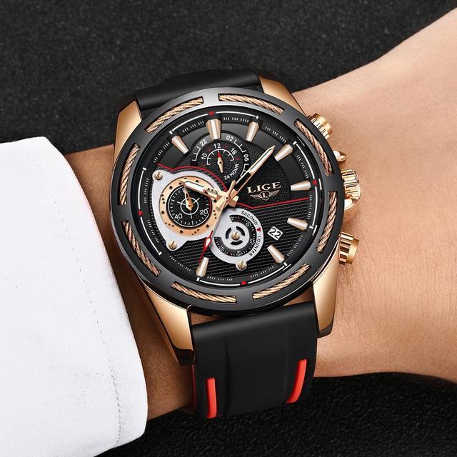 LIGE New Fashion Mens Watches Top Brand luxury Business Luminous Quartz Watch Men Casual Waterproof Date Clock Relogio Masculino