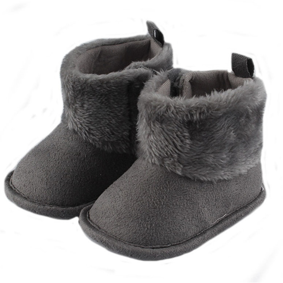 Winter Super Keep Warm Plush Baby Girls Snow Boots Cotton Flat With Baby Toddler Shoes Indoor Snow Boots Girls Baby Kids Shoes