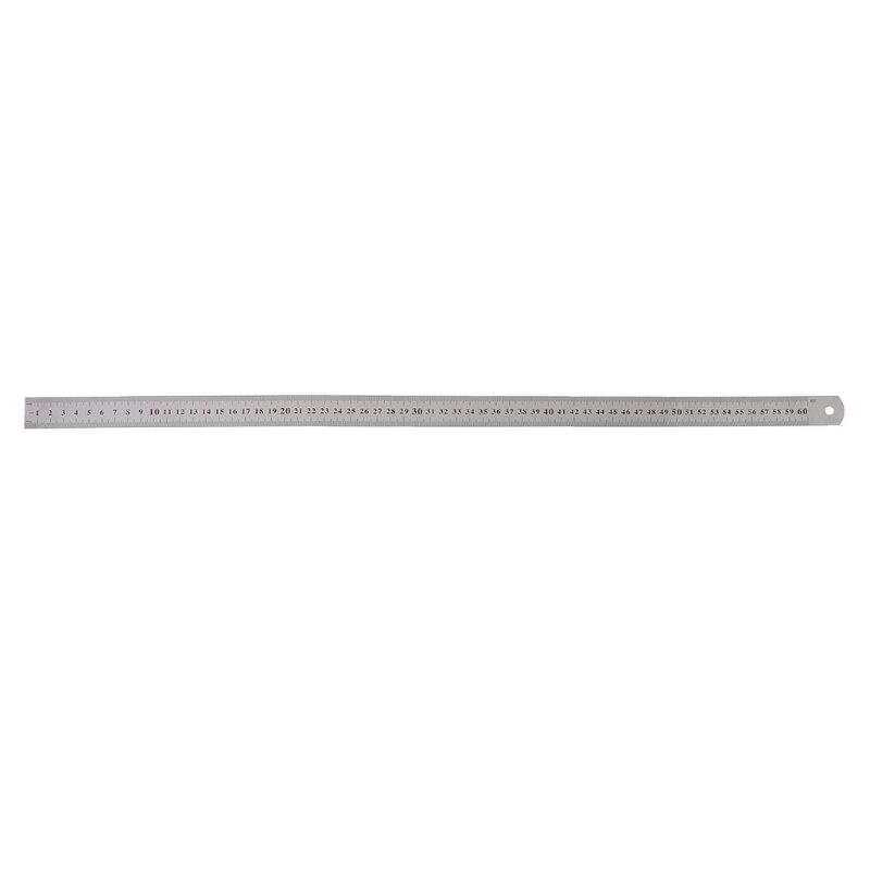 Stainless Steel Double Side Measuring Straight Edge Ruler 60cm
