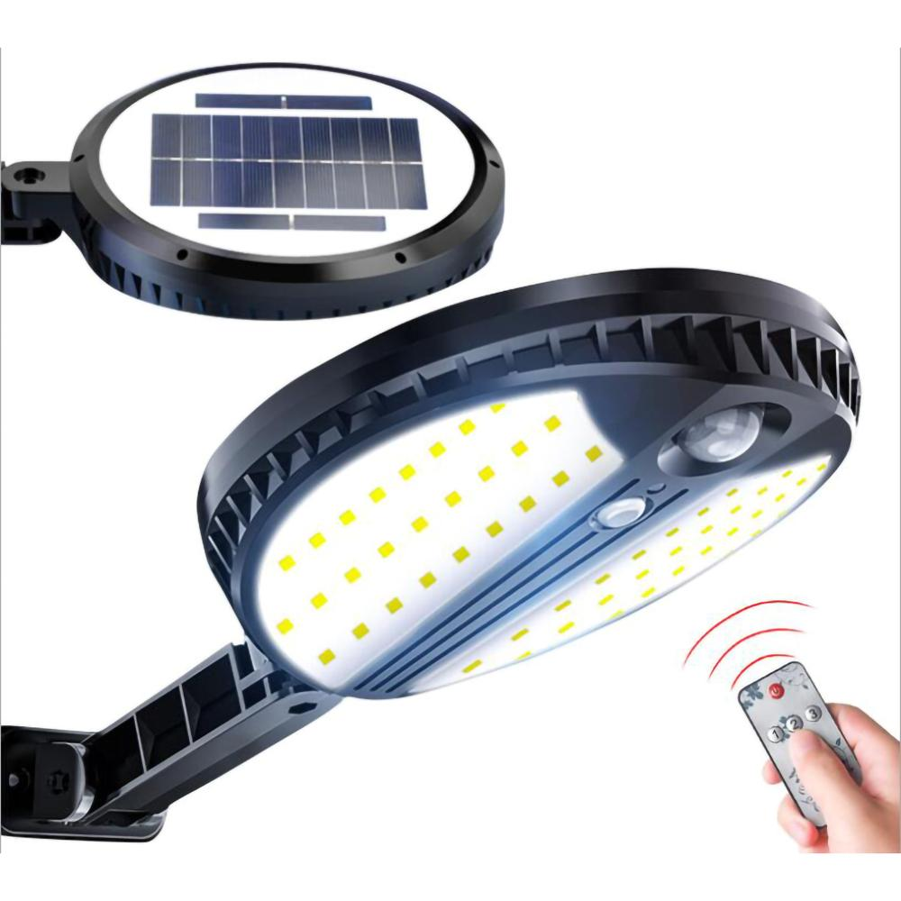 70 LED Solar Light 450LM Wireless PIR Motion Sensor Ip65 Waterproof Outdoor Street Wall Garden Lamp Rotable Remote Control
