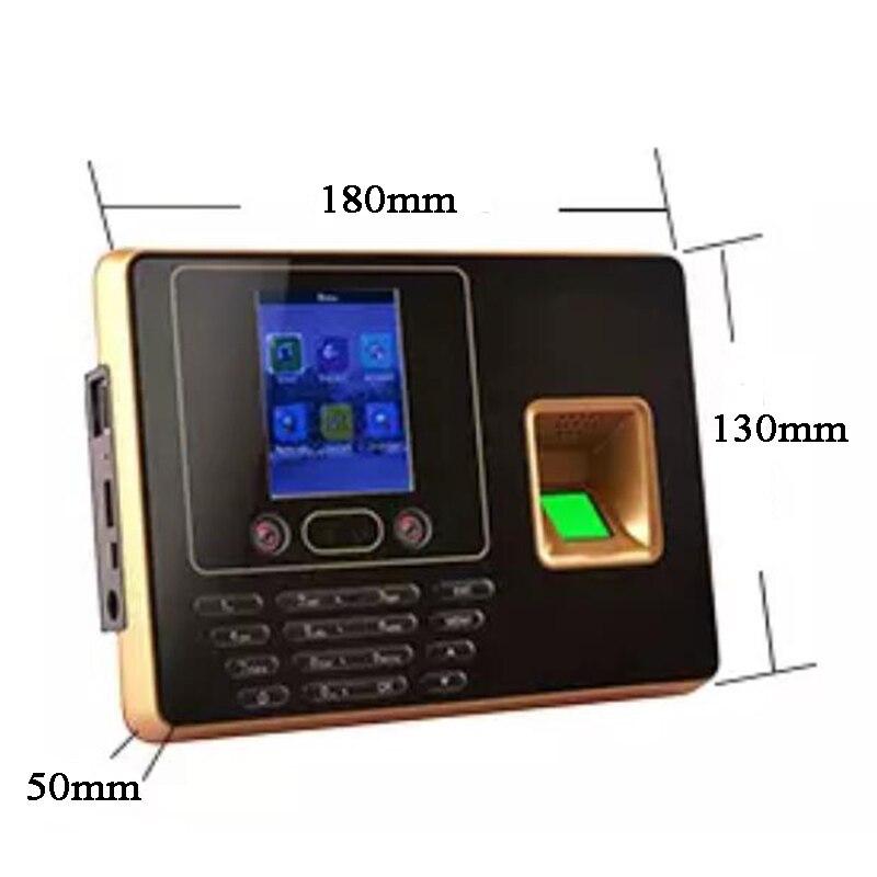 Machine de présence de temps de visage DC5V biométrique code d'empreintes digitales u-disk USB tcp/ip BS Wifi RFID carte employé de bureau Excel exportation - 4