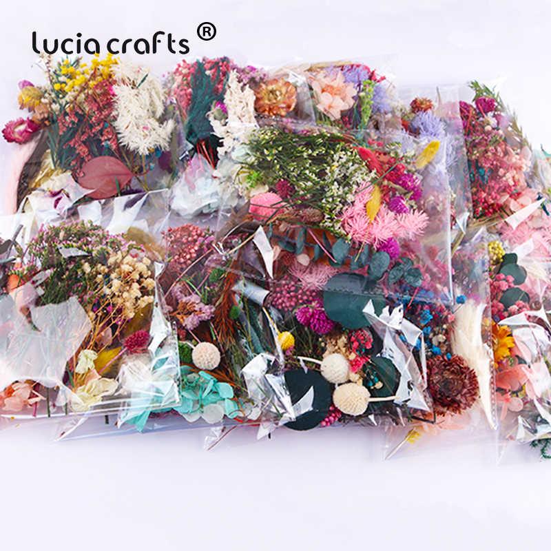 1 ถุง/ล็อตสีสันสดใสดอกไม้พืชน้ำมันหอมระเหยเทียนเรซินอีพ็อกซี่จี้เครื่องประดับสร้อยคอทำ DIY Home Decor B0709