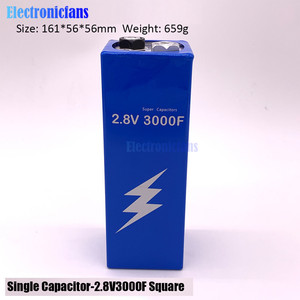 Image 2 - 2.8V 3000F Super Farad Capacitor Low ESR High Frequency Super Capacitor 2.8V3000F for Car 161*56*56mm with protection board