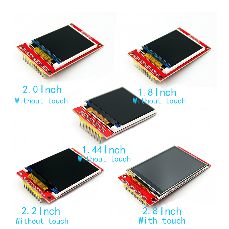 1.44/1.8/2.0/2.2/2.8 Inch TFT Color Screen LCD Display Module Drive ST7735 ILI9225 ILI9341 Interface SPI 128*128 240*320
