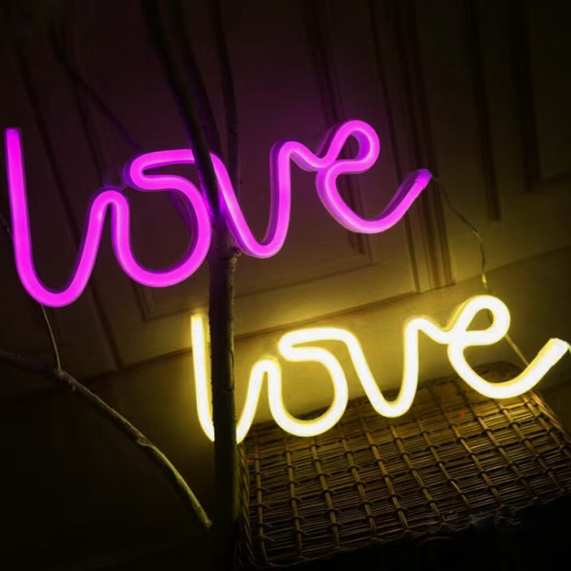 luzes de néon mesa lâmpada para festa