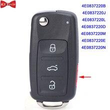 KeyecuアウディA8 S8 2003 2004 2005 2006 2007 2008 2009リモートキーfob 4E0837220B/j/l/d/m/e/n ID46チップ315/433 ask