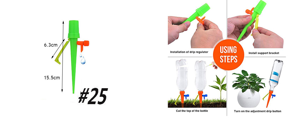H4c22506a48be4208871e8bbf4d3b2742X Garden Drip irrigation Hose Connector Spray Sprinkler Automatic Irrigation Garden Irrigation System Autowatering
