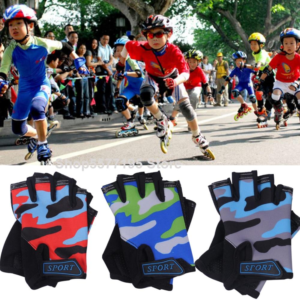Fingerless Kids Gloves Non-Slip Ultrathin Children Half Finger Breathable Gloves For Boys Girls Luvas De Inverno 2020 New