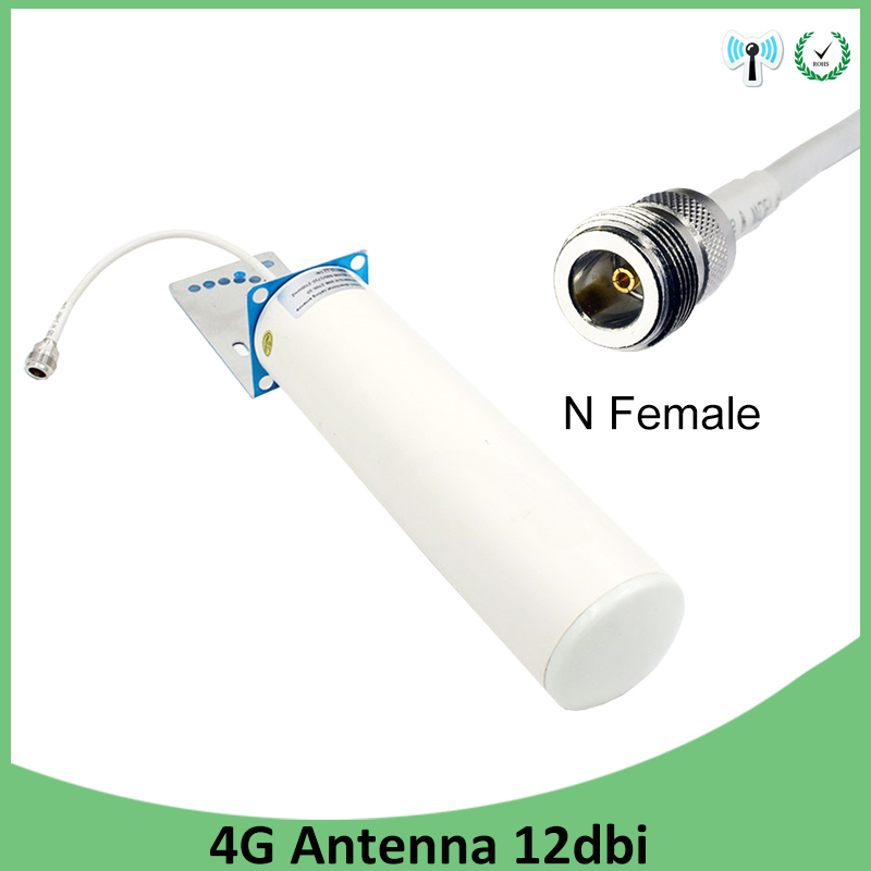 Outdoor 4G LTE Antenna 600-2700MHz 12dbi Omni External N Female Connector 4G Repeater Antenna Router For Signal Booster Repeater