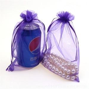 Image 3 - 100 ADET 7x9 9x12 10x15 15x20CM Organze hediye çantası İpli Organze Ambalaj çanta Düğün Parti Takı Çantası Hediye Torbalar 88