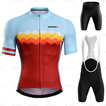 New Rapha Red Triathlon Suit Men #8217 s Road Bike Cycling Clothing Ropa De Ciclismo 2020 Skinsuit Cycling Jersey Set Bicycle Clothing tanie i dobre opinie Anti-riding 100 poliester Lycra polyester Krótki rękaw Factory direct sales 80 poliester i 20 lycra ropa ciclismo hombre