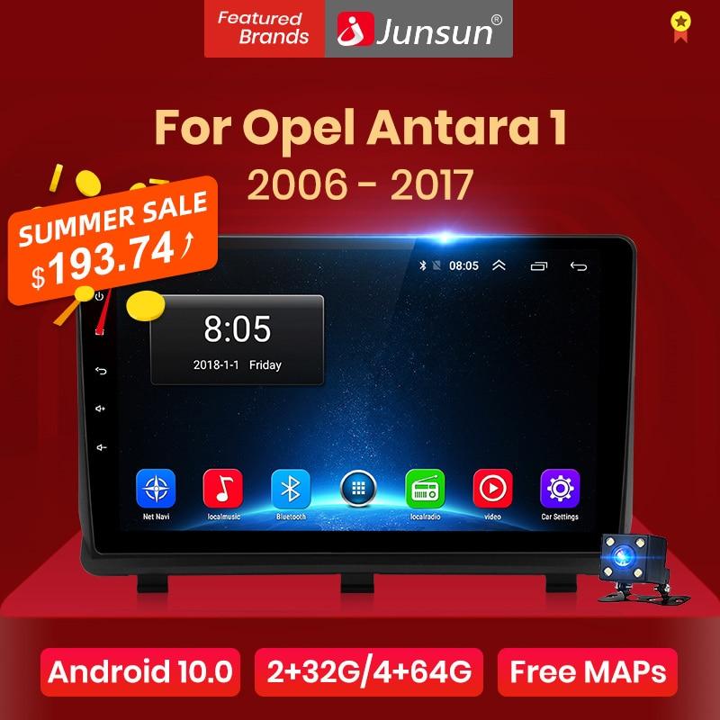 Автомагнитола Junsun V1 для Opel, мультимедийный видеоплеер на Android 10,0, DSP, GPS, dvd, для Opel Antara 1 2006-2017, 2 din