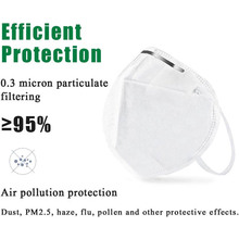 10 Pcs N95 Mask Nonwoven Dust Face Mask Dust Anti Infection KN95 Masks Respirator PM2.5 Protective Earloop Masks KF94 FFP2