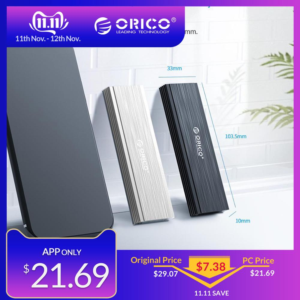 ORICO NVME M.2 SSD Enclosure Case USB3.1 GEN2 10Gbps SSD Mobile Hard Disk Drive Box External Enclosure Case For M2 SSD Case