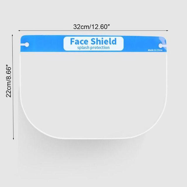 Full Face Protective Shield Visor Plastic Adjustable Transparent Face Shield to Prevent Saliva Adult Children 2