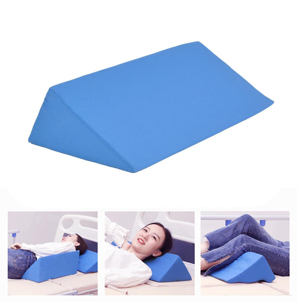 Acid Reflux Foam Bed Wedge Pillow Leg Elevation Back Lumbar Support Cushions 50x25x15cm Waist Support Pad Orthopedic Pillow