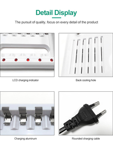 Image 4 - PHOMAX 5 ワット 2.4V 8 スロット EU プラグ LED スマートディスプレイ急速充電器 AA AAA ニッケル水素/ニカド cd のおもちゃのカメラ充電式バッテリー充電器ホワイト