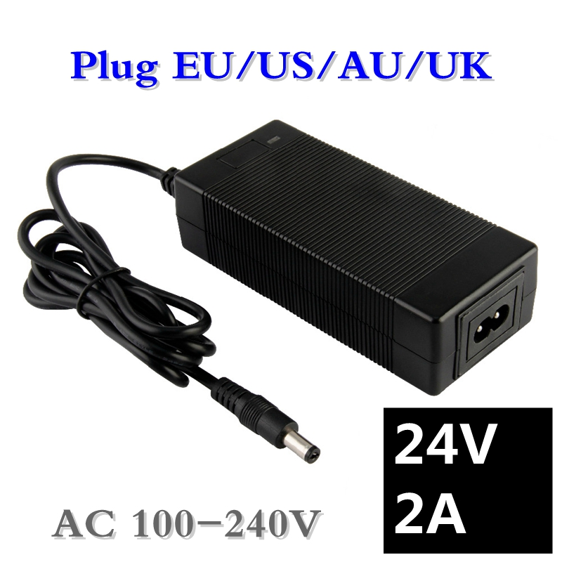 24V 2A Lead-acid Battery Charger Electric Scooter Ebike Charger Wheelchair Charger Golf Cart Charger DC5.5*2.1